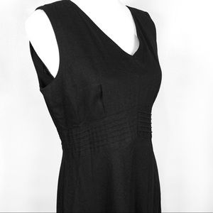Black Linen/Rayon Long Maxi Dress